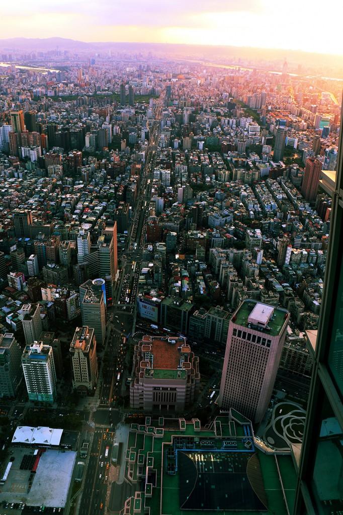 Aussicht vom Taipei 101